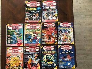 GROS Lot de 10 magazines NINTENDO PLAYER / 1992 - 93 - 94