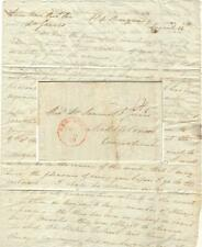 1836 NYC Folded Letter - Immigrant Ship Quarantine and a Notorious Divorce