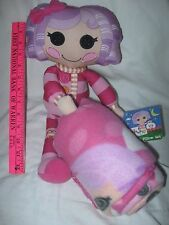 "Lalaloopsy Plush Soft Doll or pillow 15"" with Throw Blanket 40"" x 50"" Set - NEW"