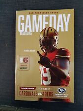 49ERS GAME DAY PROGRAM ARIZONA CARDINALS  11 05 2017