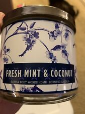 BATH & BODY WORKS HOME * Fresh Mint & Coconut * 3 WICK CANDLE NEW