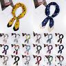Women Ladies Silk Feel Satin Square Scarf Small Head Neck Tie Band Neckerchief