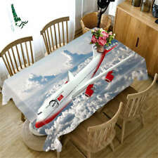 Flight Course 3D Tablecloth Table cover Cloth Rectangle Wedding Party Banquet