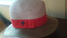 Sun and Sand Headwear - Women's Hat- NEW - Beige with Red Band