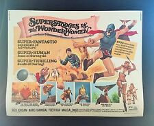 Original 1974 Super Stooges vs The Wonder Women Half Sheet Movie Poster 22 x 28