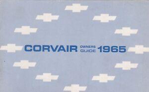 1965 CHEVROLET CORVAIR car owners manual