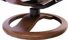 Black Leather Hjellegjerde ScanSit 110 Ergonomic Lounge Recliner Chair + Ottoman