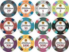 12 color set 13.5 gm Showdown Spade Sword mold clay poker chip sample set #234