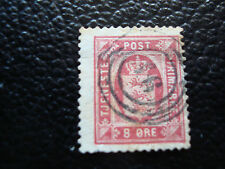 DANEMARK - timbre yvert et tellier service n° 8 obl (A9) denmark
