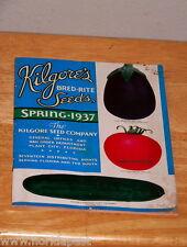 Original Scarce 1937 Kilgore Seed Catalog PLANT CITY FLORIDA Kilgore's Seeds