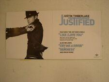 Justin Timberlake Poster Justified Nsync N*sync Promo
