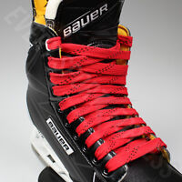 NEW Elite Pro X7 Molded Tip Wide Hockey Laces - Red / Black