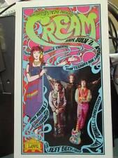 Cream July 2, 1967 Concert Handbill Postcard Approx 4.5x7.75 Inches