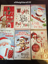 6 Assorted Christmas Money Wallets Self Seal Envelope Xmas Gift Card Cash Cute