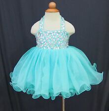 Infant/toddler/baby/children/kids glitz Girl's Baby Doll Glitz Pageant Dress