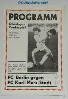 Programm 1990 BFC Dynamo Berlin Karl Marx Stadt DDR Oberliga Chemnitzer FC DFV