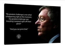 """Sir Alex Ferguson LARGE Canvas 30"""" X 20"""" Manchester United Quote Framed Picture"""