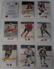 1988-89 SET OF 8 ESSO NHL ALL STAR COLLECTION ORR,HOWE,HULL,BELIVEAU ETC.VG-EX