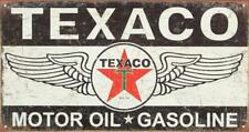 Texaco Winged Logo Distressed Rustic Retro Vintage Tin Sign 16 x 9in