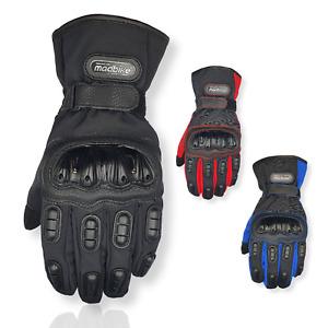 Motorbike Winter Gloves Carbon Fiber Motorcycle Thermal Gloves Ski Snow