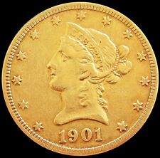 1901 S GOLD US $10 DOLLAR LIBERTY HEAD EAGLE COIN SAN FRANCISCO MINT