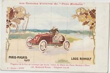 FRANCE 1903 BIG WIN FOR MICHELIN TIRES  PARIS- MADRID