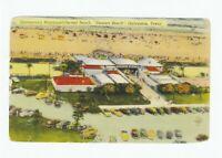 """*Texas-""""Aerial View of Stewart Beach""""  *Galveston- {Postcard} (A6)"""