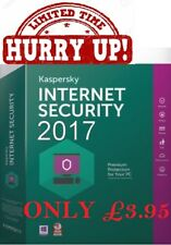 Kaspersky Internet Security 2017 1PC un anno per Windows Mac OS Android