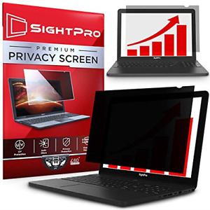 SightPro 15.6 Inch Laptop Privacy Screen Filter for 16:9 Widescreen 60 degree