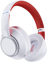 Hybrid Active Noise Cancelling Headphones Bluetooth 5.0 Over Ear Wireless(White)