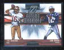 2005 Zenith Autumn Warriors #AW-10 Tom Brady & Joe Montana