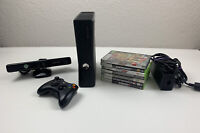 Complete Bundle Microsoft Xbox 360 S Model 1439 Slim Console 320GB Kinect Games