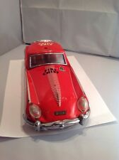 RARE CHINA BATTERY OPERATED LITHOGRAPH TIN TOY FIRE CHEIF RACE SPORTS CAR ME627