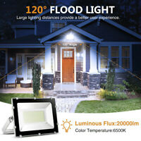 200W 20000lm LED Flood Lights Outdoor Spotlights Garden Lamp SMD IP65 Cool White