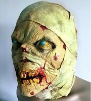 Creepy Scary Mummy Adult Latex Head Mask Horror Halloween Costume Party Props