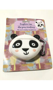 Cute PANDA BEAR Animal EARPHONE CASE -Clip on Backpack or Purse for Easy Holding