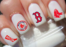 Boston Red Sox Nail Art Stickers Transfers Decals Set of 52
