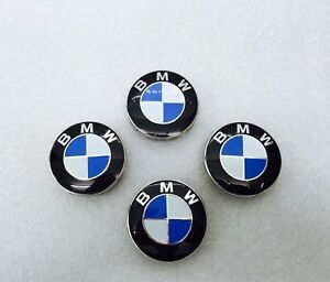 BMW Alloy Wheel Centre Caps 68mm,10 clips, x4, 1 3 5 6 7 Series E90 E34 E46 X5