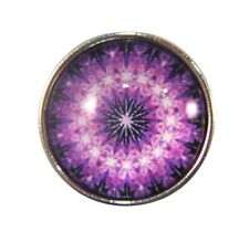 Snap Button Charms Ginger Snaps Buttons Chunk Charm Mandala Purple 5