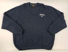 Vintage Woolrich Penn State Dweater Blue Size Large
