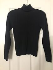 Women's GAP Sweater Shirt Turtleneck Medium M  Top Turtle neck Black ribbed