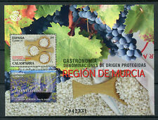 Spain 2017 MNH Gastronomy Murcia Region Rice Jumilla Wine Grapes 2v M/S Stamps