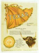 C.1910 Texas University College Mascot Cheer Tobacco Silk Vintage Original #3