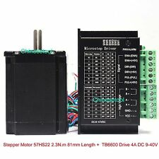 Stepper Motor 57HS22 2.3 N.m Length 81mm + Microstep Driver 0.5-4A DC 9-40V
