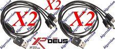2 Câbles de Charge USB 3 sorties USB Mini pour Détecteur de Métaux XP DEUS