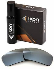 Polarized IKON Iridium Replacement Lenses For Oakley Pit bull Silver Mirror