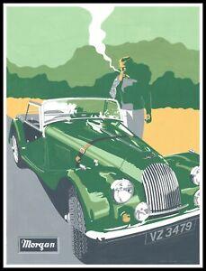 Vintage Motoring Art Poster - Morgan , vintage poter