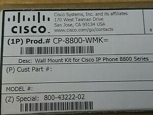 Cisco CP-8800-WMK Cisco Wall Mount Kit for IP Phone 8800 Series. Free Shipping