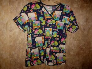 Peaches FROGS SCRUB TOP SIZE S (2 POCKETS)