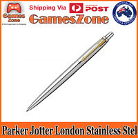 PARKER JOTTER STAINLESS STEEL GT BLUE INK BRAND NEW - FREE POSTAGE